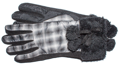 Women's Plaid Gloves 100% Polyester, Thermolite̴® Insulation - L4540