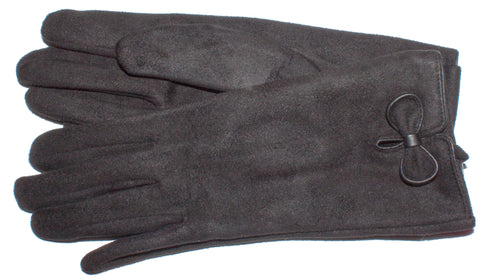 Women's Faux Suede, Self Lined Gloves