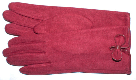 Women's Faux Suede, Self Lined Gloves - L4550