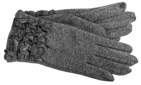 Women's Self Lined Fashion Fleece Gloves with Touch Fingers - L4571