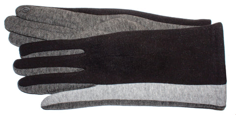 Women's Self-Lined Fashion Fleece Touch Finger Gloves - L4572