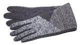 Women's Fashion Fleece, Self Lined Gloves with Touch Fingers - L4575