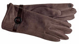 Women's Self Lined Faux Suede Gloves with Touch Technology - L4723