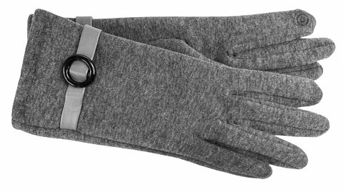 Women's Self Lined Fashion Fleece Gloves with Touch Technology - L4724