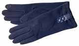 Women's Self Lined Fashion Fleece Gloves with Touch Screen Technology - L4725