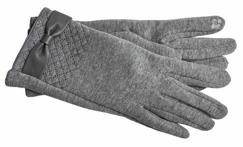 Women's Self Lined Fashion Fleece Gloves with Touch Screen Technology - L4728