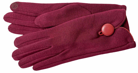 Women's Self Lined Fashion Fleece Gloves with Touch Screen Technology - L4732