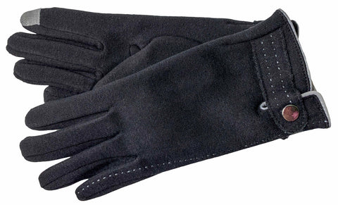 Women's Self Lined Fashion Fleece Gloves with Touch Screen Technology - L4733