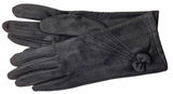 Women's Self Lined Faux Suede Gloves with Touch Screen Technology - L4734