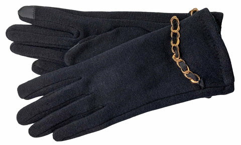Women's Self Lined Fashion Fleece Gloves with Touch Screen Technology - L4744