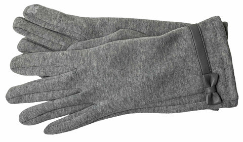 Women's Self Lined Fashion Fleece Gloves with Touch Screen Technology - L4746