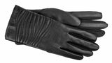 Women's Faux Leather and Stretch Material Gloves with Brushed Polyester Lining and Touch Screen Technology - L4796