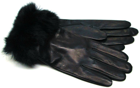 Women's fur gloves