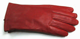 Women's red leather gloves