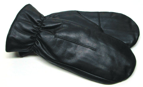 Women's leather mittens