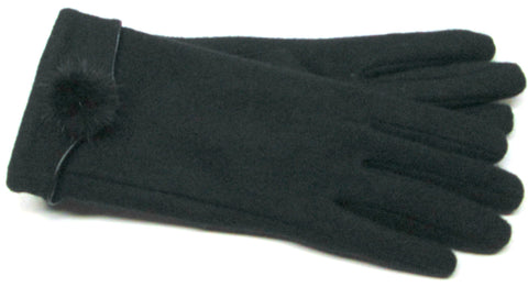 Women's Angora blend Gloves with Fleece lining