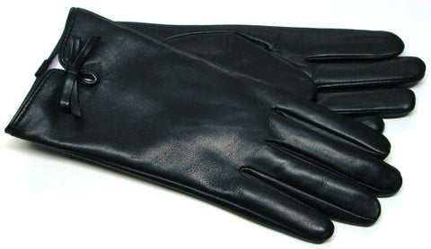 Women's Glace Leather Gloves with 100% cashmere lining