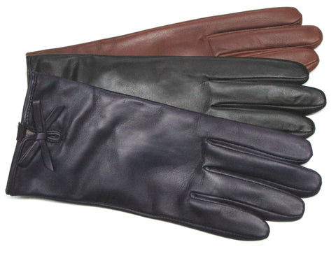Various color women's leather gloves
