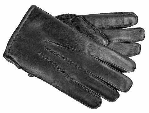 Men's Glace Leather Gloves with Fleece Lining, Fiberfil, Foam Insulation and Touch Technology - M7847