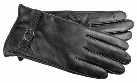 Women's Faux Leather Gloves with Poly Tricot Lining - L8026