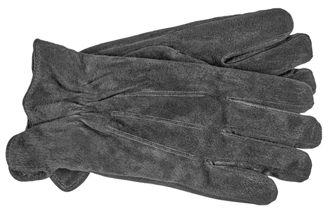 Men's Pig Suede Gloves with Brushed Polyester Lining - M7002
