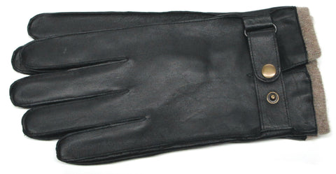 Men's Glacé Leather Gloves with 100% Cashmere lining