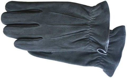 Men's black suede gloves