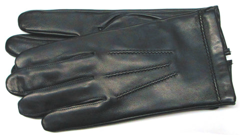 Men's Glace leather gloves with 100% Cashmere lining