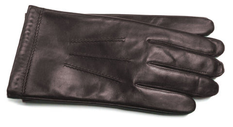 Men's Glace Leather Gloves with 100% Cashmere Lining - M7140
