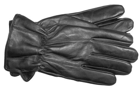 Men's Glace Leather Gloves with Brushed Polyester Lining - M7263