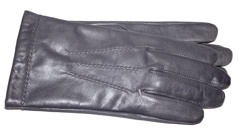 Men's Glace Leather Gloves with Cashmere Blend Lining - M7317