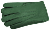 Men's Classic Green Leather Gloves