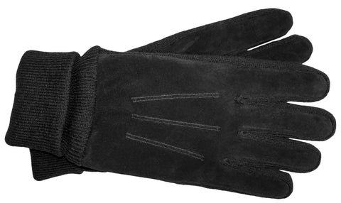 Men's Pig Suede and Knit Gloves with Fleece Lining and ThinsulateTM Insulation - M7483