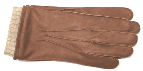 Men's Distressed Nappa Leather Gloves with Fleece Lining - M7576