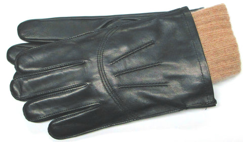Men's Glacé leather gloves with 100% Cashmere insert