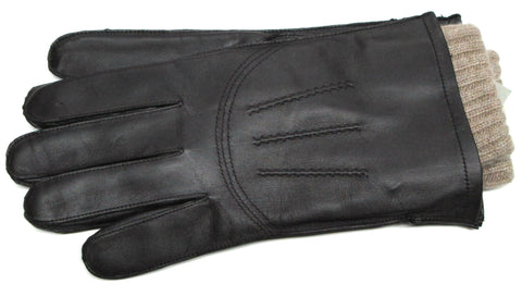 Men's Glace leather gloves with 100% Cashmere insert - G7584