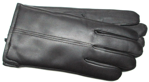 Men's Glace Leather Gloves with Micropile Lining - L7588