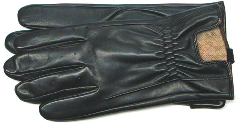 Men's Glacé Leather Gloves with 100% Cashmere lining and Watch Cutout