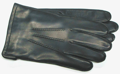 Men's Glace Leather Gloves with Poly Tricot Lining and ThinsulateTM Insulation - M7607