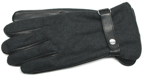 Men's Wool Back Glace Leather Palm Gloves with ThinsulateTM insulation