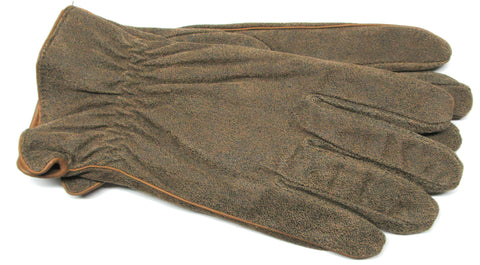 Men's Distressed Wash Leather Gloves with Fleece Lining - M7706