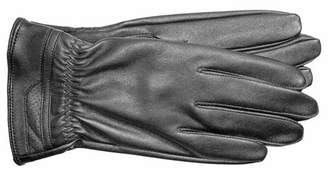 Men's Faux Leather Gloves with Silk Lining - M7730