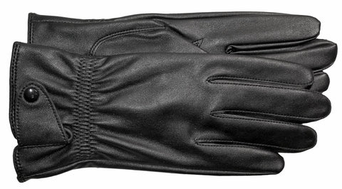 Men's Faux Leather Gloves with Silk Lining - M7731