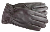 Men's Glace Leather Gloves with Melenge Fleece Lining and Touch Screen Technology - M7738