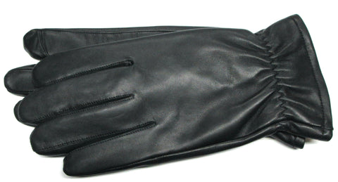 Men's Glacé Leather Gloves with Mélange fleece lining & TOUCH TECHNOLOGY