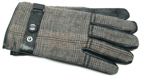Men's Glacé Leather/Wool with Poly Tricot Lining and Texting Touch Screen Fingers - M7773