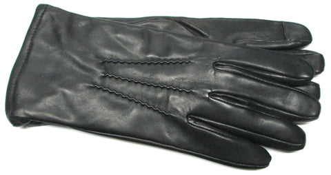 Men's Glace Leather Gloves with Cashmere Blend Lining and Touch Technology - M7795