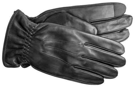 Men's Glace Leather Gloves with Fleece Lining and Touch Technology - M7797