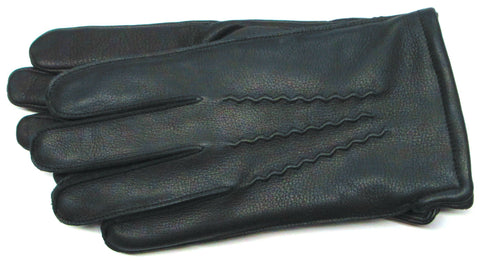 Men's Black Classic Leather Gloves