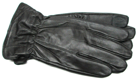 Men's Glace Leather Gloves with Fleece Lining and Touch Technology - M7832